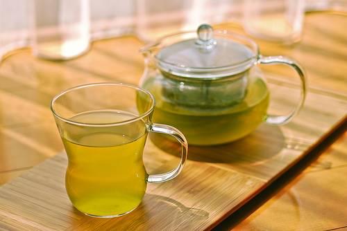 зеленый чай от жары
