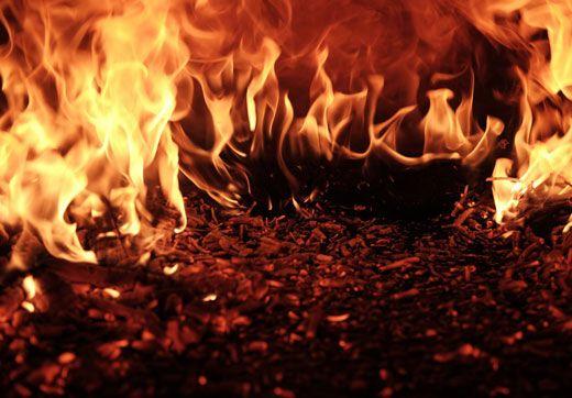 Ожог огнем