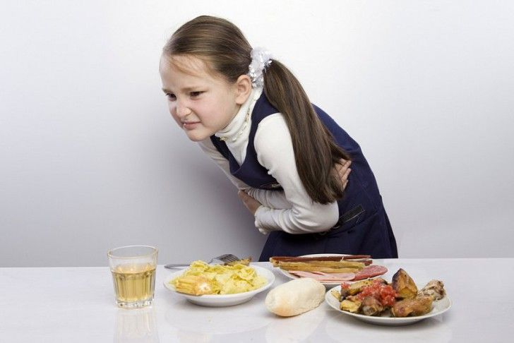 У ребенка болит желудок после еды